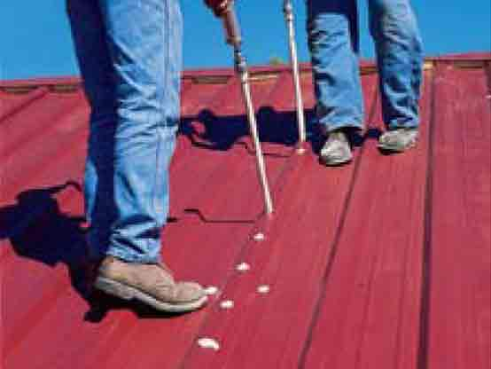 Conklin Metal Roof system caulking